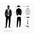 set strict style of menswear vector image