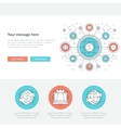 Flat line Business Concept Web Site Header vector image