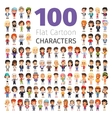 Casually Dressed Flat Characters Big Collection vector image