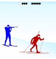 Biathlon competition vector image