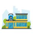 cartoon gym fitness building vector image