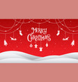 christmas and happy new year 2018 typography vector image