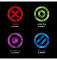 Circle cross and dot logo design elements vector image