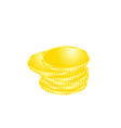 coin money gold vector image