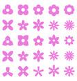 flower simple shape icon set vector image