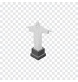 isolated christ the redeemer isometric rio vector image