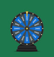 realistic spinning fortune wheel lucky roulette vector image