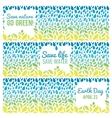Save water - save life Hand drawn drops and green vector image