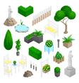 Garden Park Landscape Elements vector image