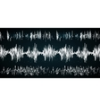 Sound wave on a dark background vector image