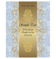 Invitation card with ornaments vector image