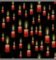 red burning wax candles seamless pattern vector image