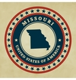 Vintage label Missouri vector image