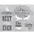 Wedding Set coal vector image vector image