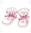 Baby pink booties vector image