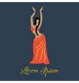 Oriental dancer vector image