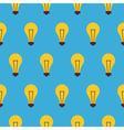 Flat Seamless Pattern Creativity Idea Lamp vector image vector image