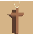crucifix vector image