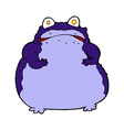 comic cartoon fat frog vector image