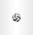 black volleyball icon design vector image