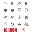 grey sewing icon set vector image