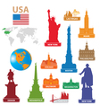 symbols city usa vector image