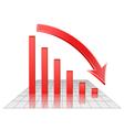 Chart of decreasing profits vector image vector image