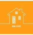 house logo line design background vector image