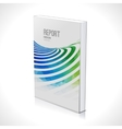 3D Business design template Cover brochure book vector image