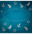 Abstract sea grunge background vector image