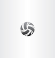 black volleyball icon design vector image