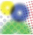 halftone round pattern vector image