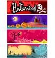 hallowen card set vector image
