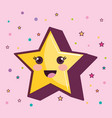 kawaii star design vector image