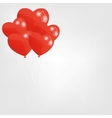 Red heart balloons vector image