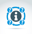 Round consultation symbol conceptual call center vector image