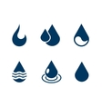Set of water drops isolated over white vector image