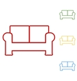 Sofa Set of line icons vector image