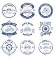 Bike Rent Label and Badges Design vector image