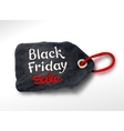 Black Friday plasticine tag banner vector image
