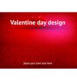 Valentines Day Design vector image