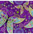 violet floral pattern vector image