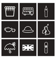 assembly stylish black and white icons england vector image