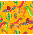 Mexican icons pattern vector image