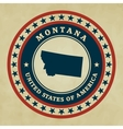 Vintage label Montana vector image