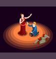 theatre isometric icon vector image