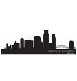 Corpus Christi Texas skyline Detailed silhouette vector image vector image