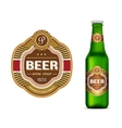 Beer label template vector image vector image