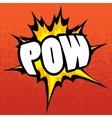 Pow background vector image