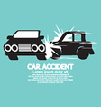 Two Cars In An Accident vector image